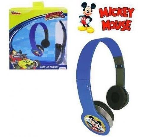 Fone De Ouvido Infantil Mickey Aventuras Dobrável
