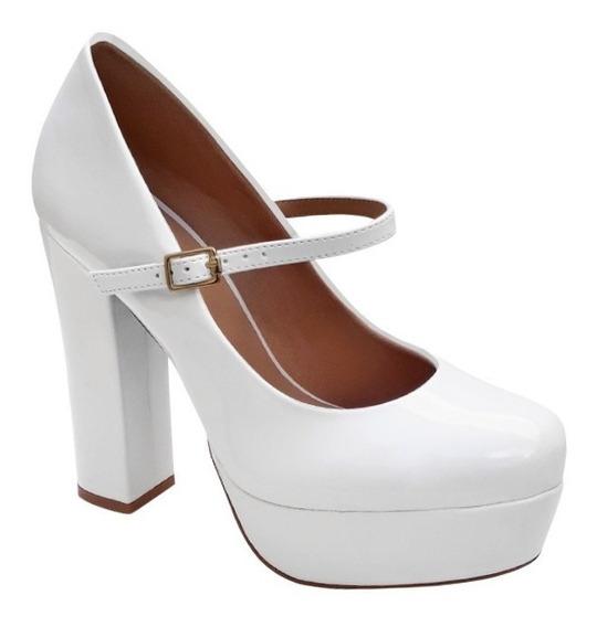 Sapato De Noiva Boneca Meia Pata Salto Alto Grosso