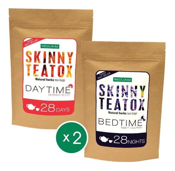 Paquete De 2 Reduxim Skinny Teatox Té Detox Día Y Noche