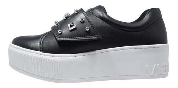 Zapatillas Mujer Negras Vía Marte 19-1102 Importadas