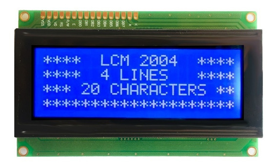 Display Lcd Azul 20x04 Alfanumérico 4 Linhas 2004a Rhos Agm
