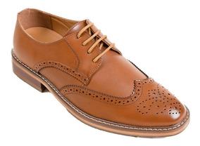 Zapatos Derby Wingtip Marrón