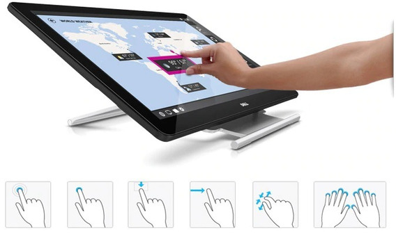 Monitor Dell Touchscreen P2714t - Estado De Novo