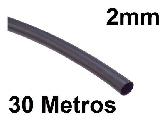 Espaguete/tubo Termo Retrátil Isolamento 2mm Preto 30 Metros