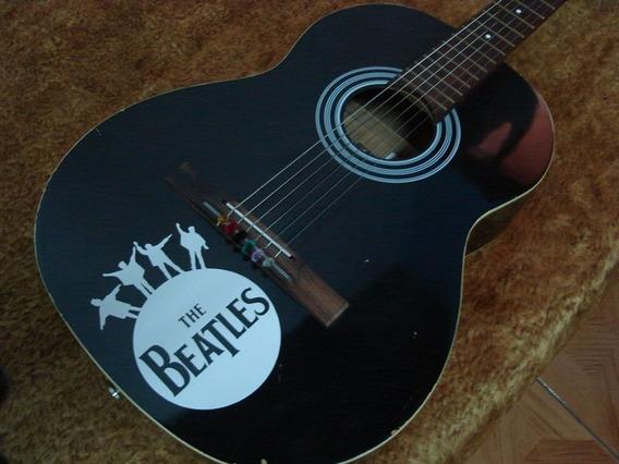 Adesivo The Beatles Violão Guitarra Baixo Carro Moto