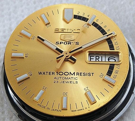 Relógio Seiko 5 Sports 7s36-00w2 Dourado Perfeito Estado