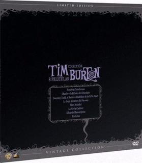 Pack Dvd Tim Burton Vintage 8 Peliculas Nuevo Sellado