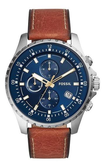 Relógio Masculino Fossil Fs5675/0an 48mm Couro Marrom