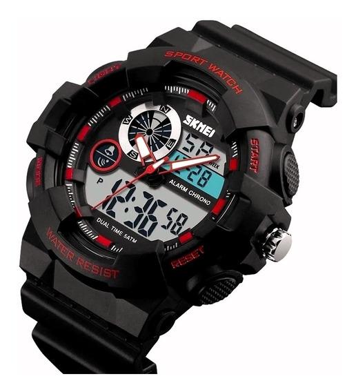 Relógio Masculino Esportivo Militar Anadigi A Prova D