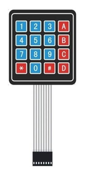 Membrana Teclado Matricial 4x4 Números E Letras - Arduino
