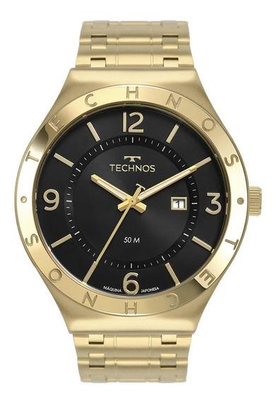 Relógio Technos Masculino Analógico Dourado Preto