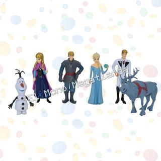 Set Muñecos Frozen Por 6 Personajes