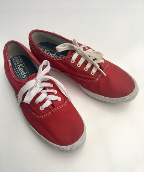 Tênis Keds Vermelo Champion Woman Canvas Número 38