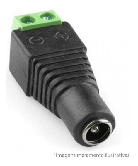 Plug Conector P4 Femea P/ Cftv Camera Borne