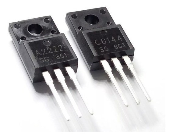1 Par Transistor A2222 E C6144 - 2sa2222 - 2sc6144 Epson