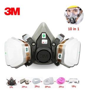 Respirador Máscara 3m Semi Facial 6200 Completa- 10 Em 1