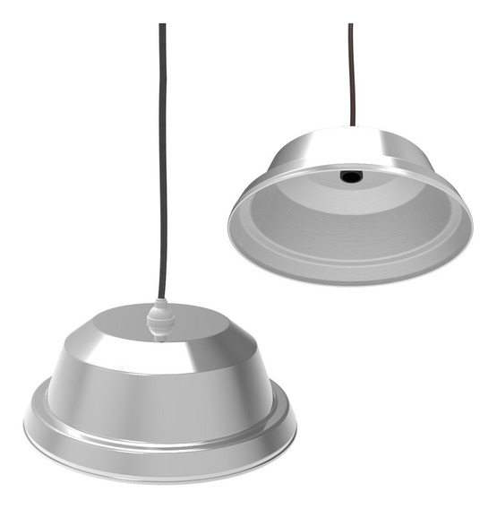 Lustre Pendente Moderno Sputnik Aluminio Para 1 Lâmpada