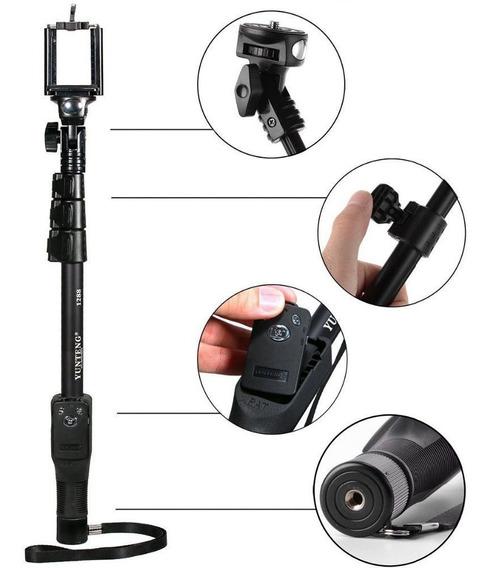 Bastao Yunteng Aluminio Bluetooth 42cm-1,5mts Gopro 1-6..