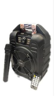 Bafle Para Karaoke Portátil Con Control Remoto Y Micrófono!!