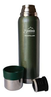 Termo Bamboo Traveller 1 Litro Acero Inoxidable Pico Cebador