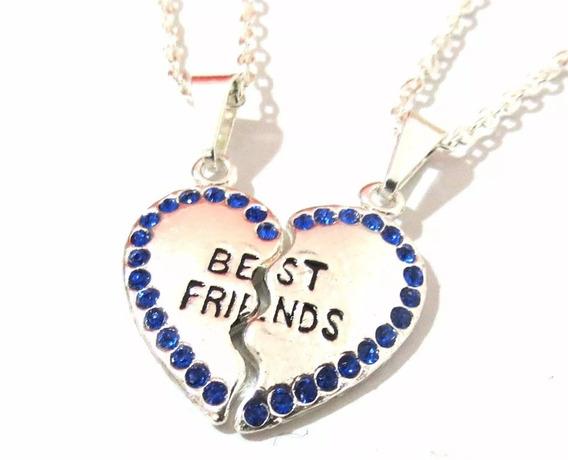 Colares Best Friends Eternas Bff Folheado A Prata - 2 Pçs