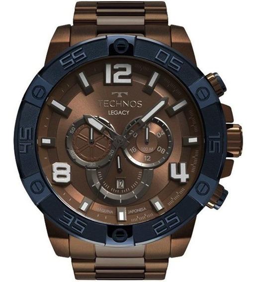 Relógio Technos Legacy Marrom Masculino Os2abo/4m Original