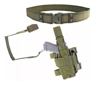 Funda Pistolas Airsoft Muslera Universal + Sling+cinturon Cb