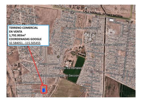 Imagen 1 de 3 de Terreno Comercial En Esquina De 1,792m² En Hacienda De Las T