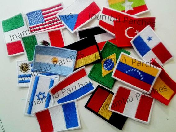 Parches Banderas Argentina Países Bordados