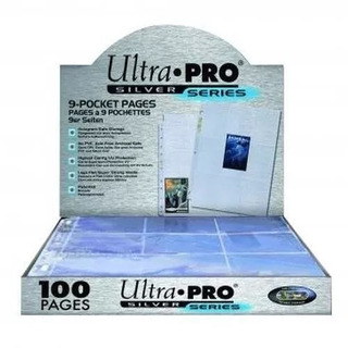 Folios De Carpeta Ultra Pro Silver Series 9x 100 Unidades