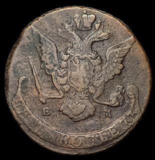 Ch C / Rusia, Caterina || 1762-1796 / 5 Kopeck 1769 Km# 59.3