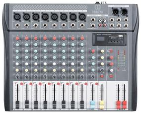 Mesa De Som 8ch Display Lcd - Usb+sd+envio Imediato