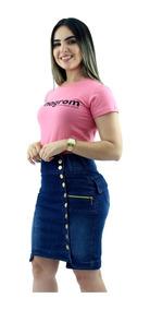 Kit 3 Saias Jeans Evangélica Modelo Anagrom Com Melhor Preço