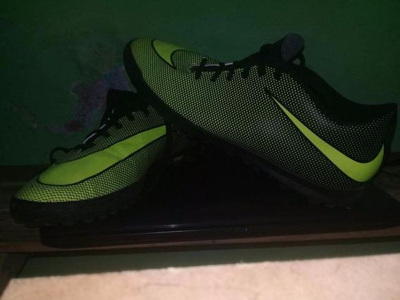 Tenis Nike Color Verde Fosforescente Talla 7 2 Meses De Uso