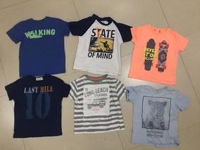 Lote De 10 Camisetas Para Niño Talla 4 Zara Y Otrtas Marcas