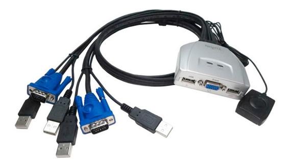 Nisuta Kvm Switch Teclado Video Mouse Usb 2 Cpu Ns-k Cuotas