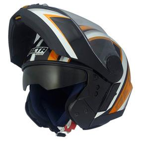 Capacete Vaz V14 Arrow Preto/laranja Tamanho 56