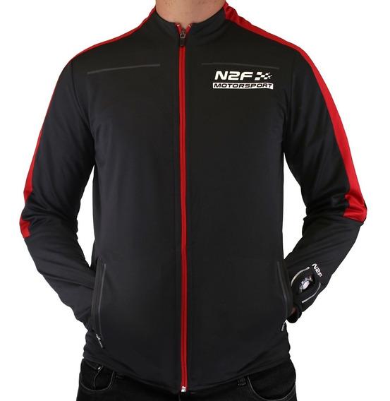 Chamarra N2f Motorsport Negro Y Rojo