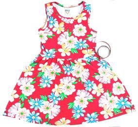 Vestido Infantil Menina Cotton Estampado Boca Grande