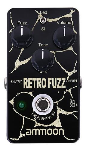 Imagem 1 de 9 de Ammoon Retro Fuzz Analógico Fuzz Guitarra Efeito Pedal 2 Mo