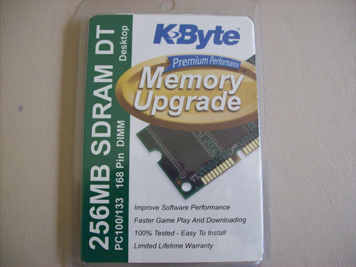Memoria Ram 256mb Kbyte Premium Performance Upgrade Sd Ram