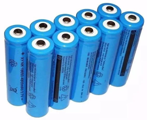 4 Un Bateria Recarregável 18650 3,7v 9800mah P/ Lanterna