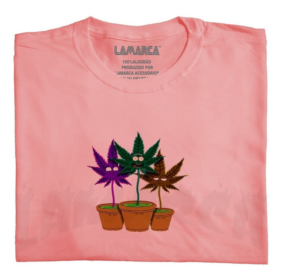 Camisa Rick And Morty Smoked Planta Maconha, Camisa Lamarca