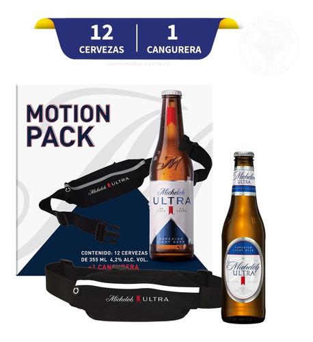 Cerveza Michelob Ultra 12 U 355 Ml + Cangurera Impermeable