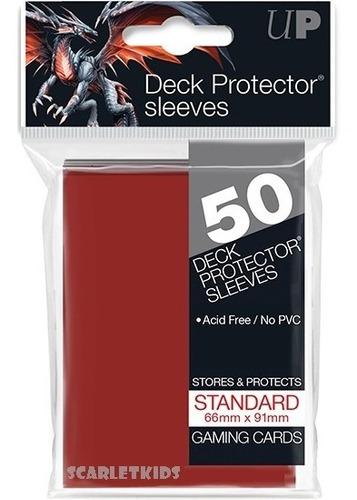 Imagen 1 de 6 de Protectores Ultra Pro X50 Unidades Rojo Standart Scarletkids