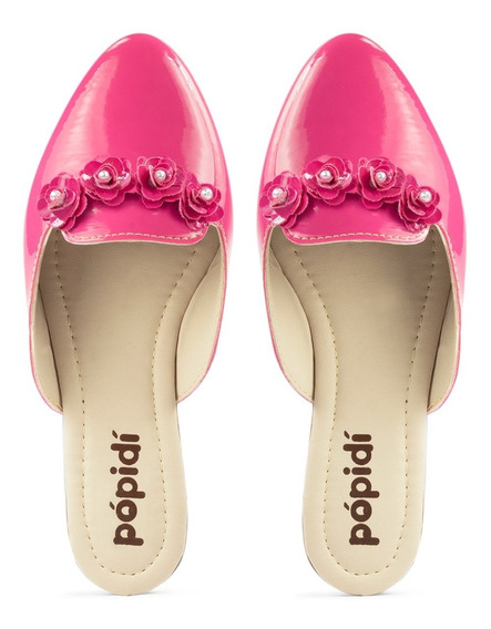 Mule Sapatilha Infantil Feminino Menina Sapato Tamanco 50