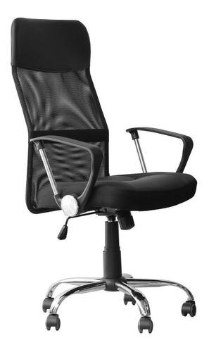 Cadeira de escritório Tander TCE11  preta com estofado do mesh