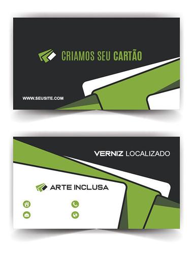 1000x Cartão De Visita Verniz Localizado Personalizado 4x4