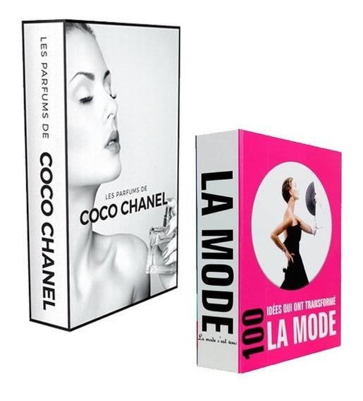 Conjunto De Caixas Livros Decorativa La Mode Coco