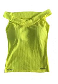 Blusa Canelada Decote Canoa Ombro A Ombro De Fora Lançamento